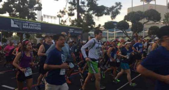 On your mark, get set, go! The LA Marathon is on