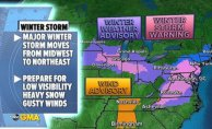 Major winter storm moves from Midwest to the East Coast to start the week