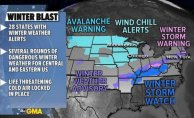 Arctic air grips Midwest, Quite active weather pattern at Central and Eastern US