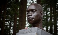 Bust of York, an enslaved Dark member of the Lewis and Clark expedition, Seems in Portland