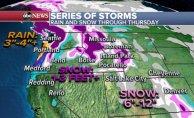Heavy snow round Rockies and Cascades, seasonable air returns to the Gulf Coast