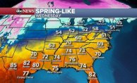 Spring-like weather across much of US, Potential Deep snow at Rockies and parts of West