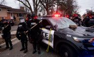 Protesters clash with police Following Firing fatally shoots Motorist during traffic stop