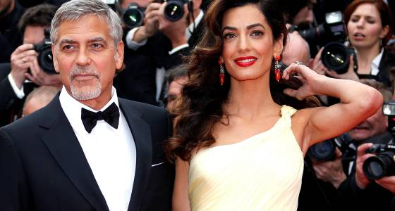 Amal Clooney Flaunts Baby Bump At 42nd Cesar Awards In Paris; George Clooney Expects A Parenthood Adventure