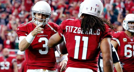 Cardinals GM 'would've bet' Carson Palmer, Larry Fitzgerald would be back