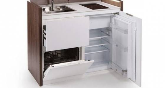 Compact all-in-one kitchen unit hides stove, fridge and dishwasher (Video)