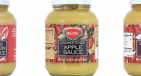 Do you have this apple sauce? Throw it away or return it. It could contain glass