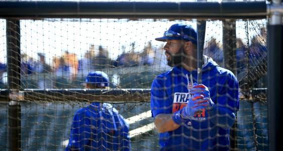 Jason Heyward and his modified swing face first live test Saturday