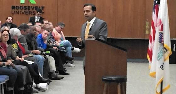 Krishnamoorthi town hall meeting draws more than 300