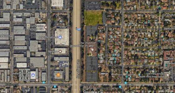 Mormon Church sanctuary spared in Van Nuys fire