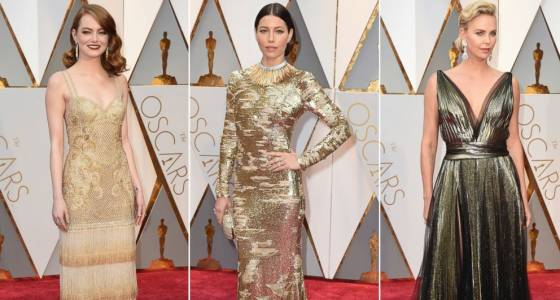 Oscars 2017 style: Metallics, reds, black and white amongst leading trends