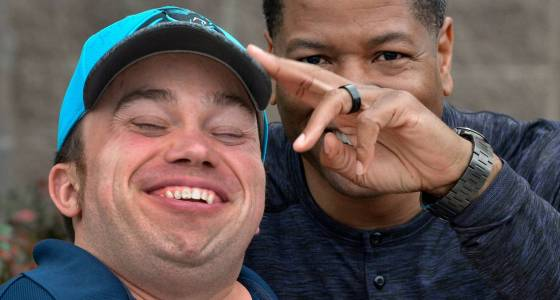 Panthers DC Steve Wilks does far more than just say hello to Harris Y greeter