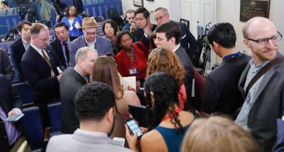 Press corps protests White House briefing that excluded some media outlets