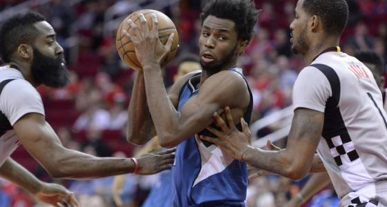 Rockets rain down threes to defeat Wolves