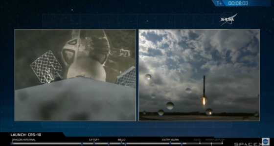 SpaceX rocket lifts off from historic Apollo 11 launchpad