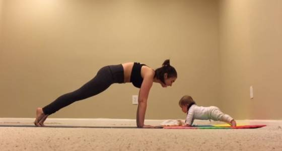 This 6-month-old baby can plank better than you