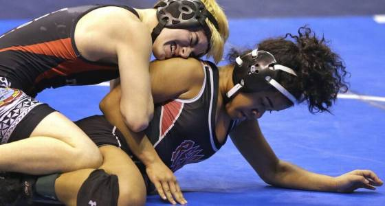 Transgender wrestler wins his first matches while competing in girls state tournament