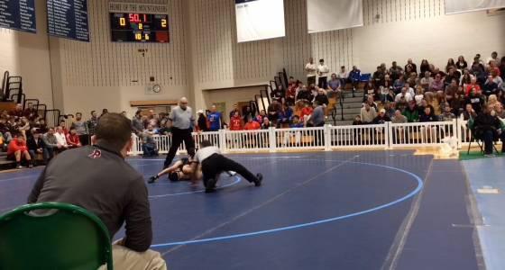 WATCH: Phillipsburg's Cullen Day pins way into state tournament