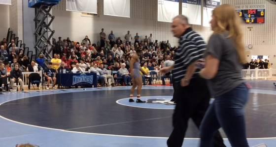 WATCH: Warren Hills wrestler Jarod Ostir books trip to states