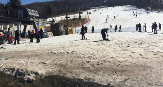 What do Jersey peaches and skiing have in common? The cold facts...