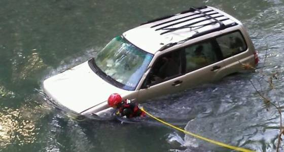 Woman survives night trapped in car in swollen Sonoma County creek