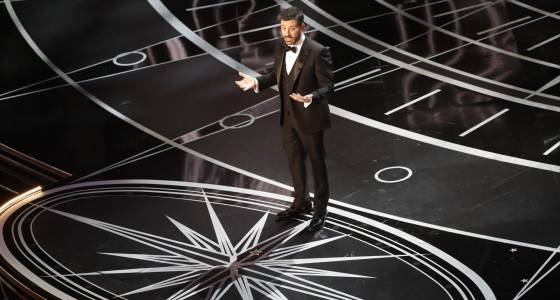 Tourists with selfie sticks and a surprise Hollywood ending make Jimmy Kimmel's Oscars unforgettable
