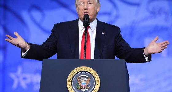 Trump doubles down on fight with media during CPAC speech