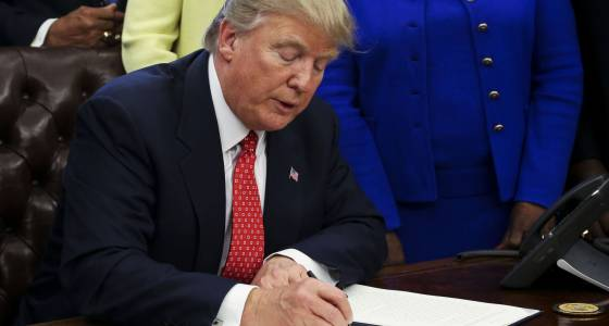 Trump signs executive order on historically black colleges