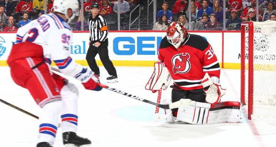 Unlikely hero propels Rangers to OT win over rival Devils