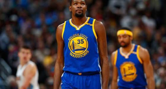 Warriors' Kevin Durant out of game with knee injury