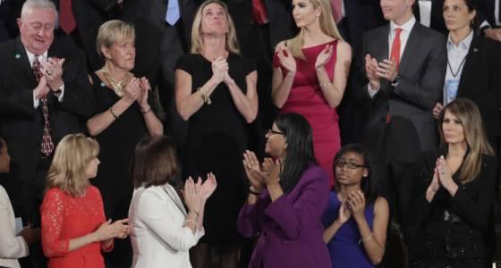 Widow of Navy SEAL takes spotlight as Trump addresses Congress (w/video)