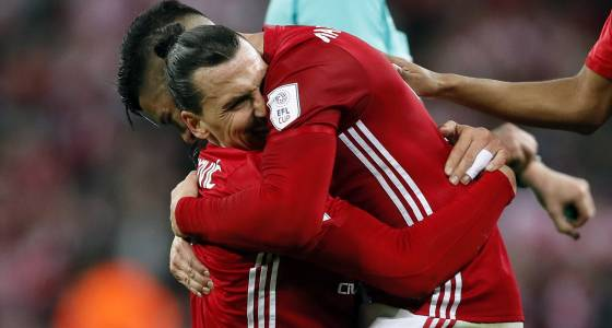 Zlatan Ibrahimovic's double wins League Cup for Manchester United
