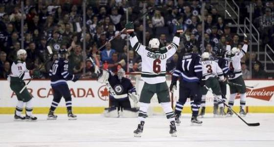 Zucker scores with 2:10 left to lift Wild over Jets 6-5