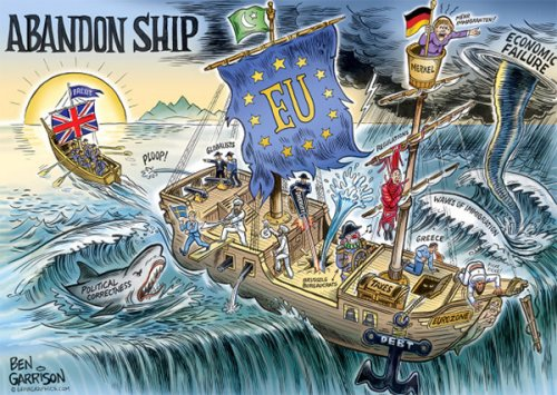 Abandon Ship! by Ben Garrison