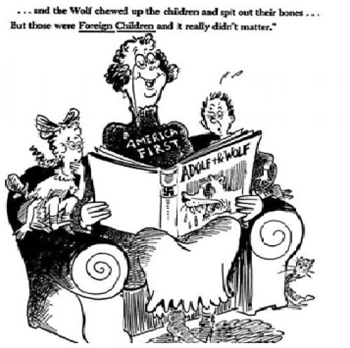 Dr Seuss wartime propaganda makes a eery comeback