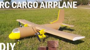 How To Make RC Cargo Airplane. Diy Twin Motor Model Aircraft
